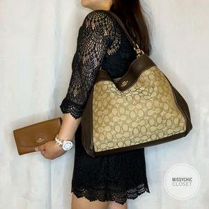 •Coach• Monogram Shoulder Bag with Wallet
